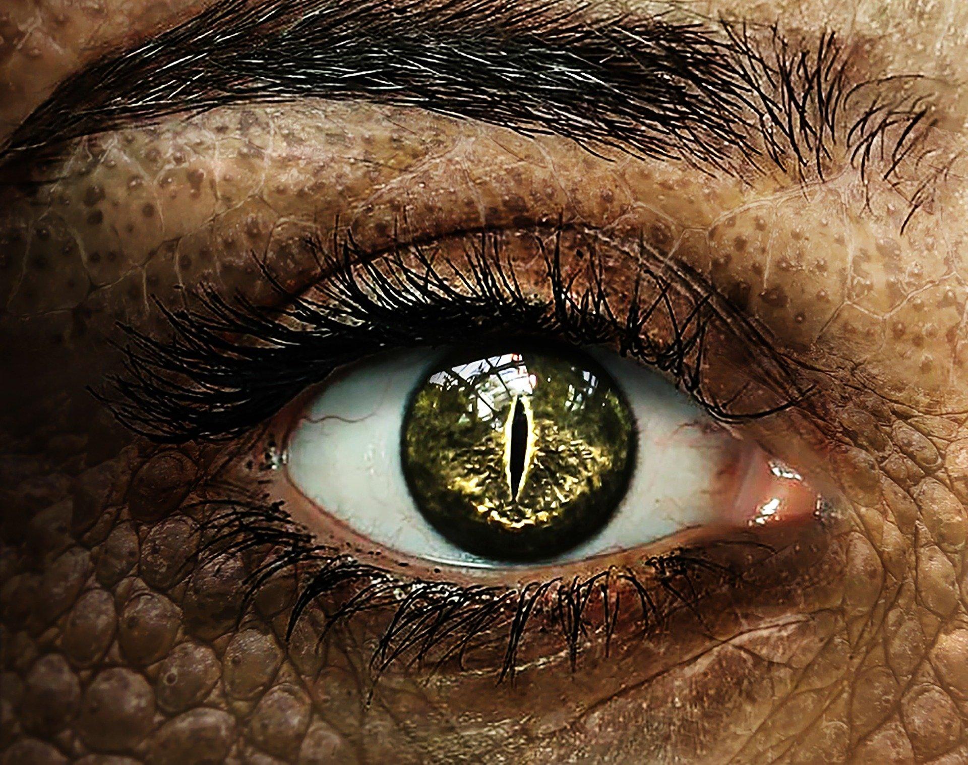 Reptil-farbige-Kontaktlinsen