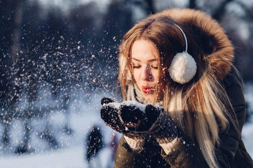 Kontaktlinsen im Winter
